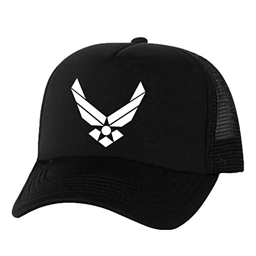 AirForce Wings Truckers Mesh snapback hat in Black - One Size