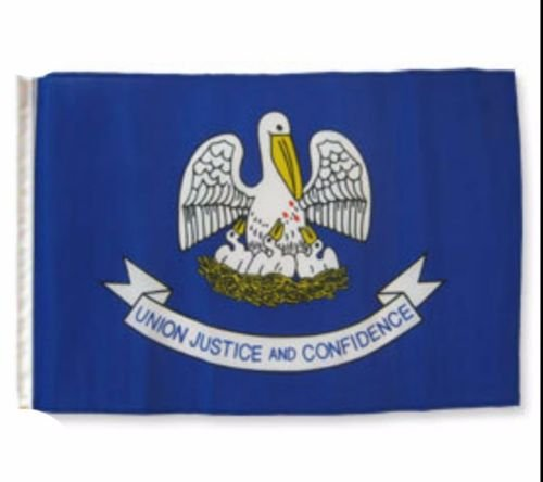 "12x18 12/""x18/"" State of Louisiana Sleeve Flag Boat Car Garden-On Sale!"
