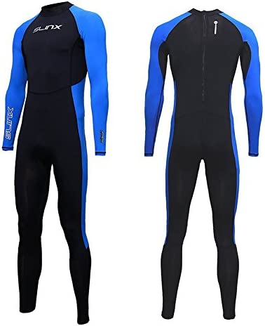 Full Body Dive Wetsuit Sports Skins Lycra Rash Guard for Men Women, UV Protection Long Sleeve One Piece Swimwear for Snorkeling Surfing Scuba Diving Swimming Kayaking Sailing Canoeing