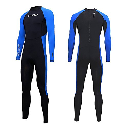 Full Body Dive Wetsuit Sports Skins Lycra Rash Guard for Men Women, UV Protection Long Sleeve One Piece Swimwear for Snorkeling Surfing Scuba Diving Swimming Kayaking Sailing Canoeing (M)