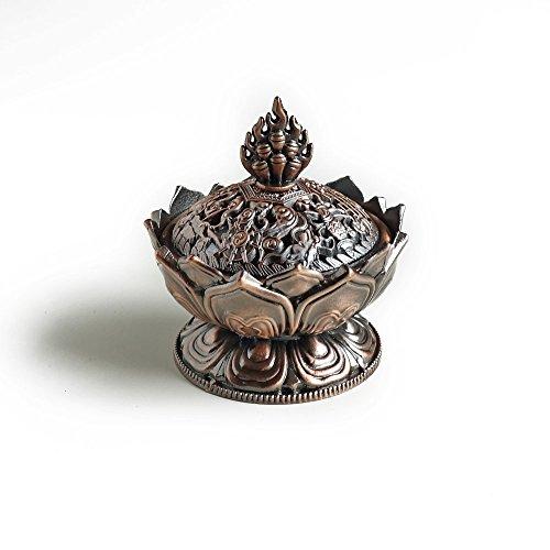 Lotus Alloy Incense Burner Censer Imitation Copper No Fade Classical Style