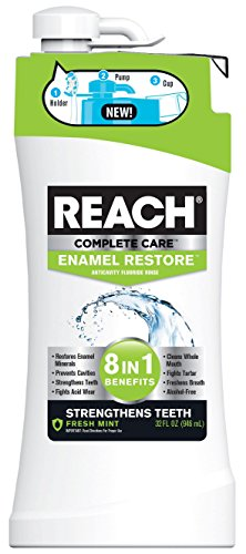 Reach Complete Care 8-In-1 Enamel Restore Mouth Rinse, 32 Fl. Oz./946 mL, Pack of 4