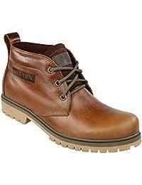Bota Coturno Couro Beeton Masculina chukka Boot Strong 404 Solado de Borracha