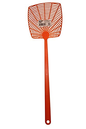 Plastic Fly Swatter Neon, Orange, 3-swatters by PIC