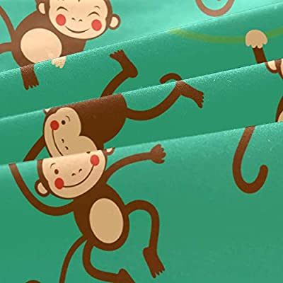LvShen Printed 3 Pieces Duvet Cover Set Cute Funny Monkey Twin Size Hotel Bedding Sets with 1 Comforter Quilt Cover and 2 Pillow Cases for Teen Boys Girls: Home & Kitchen