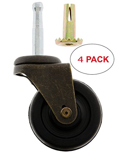 R-08BM-1398-BK-4 Large Grip-Neck Caster with 2