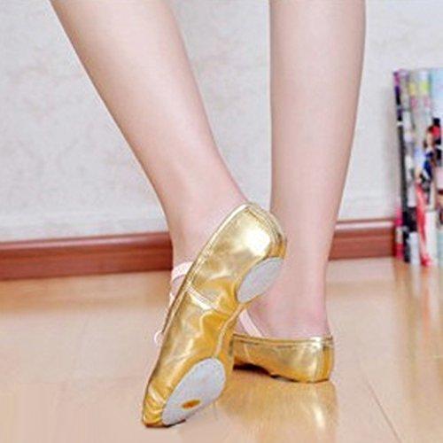 Donna Da Punta 37 40 38 Con Ragazze Magideal Nuove 36 Balletto Raso 39 Oro Calzature Nastro Scarpe 4colors x0EttR
