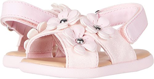 UGG Girls I Allairey Sparkles Flat Sandal, Seashell Pink, 6-7 M US Infant