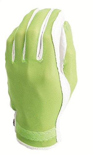 - Evertan Women's Tan Through Golf Glove: Lime Green - Large Left Hand