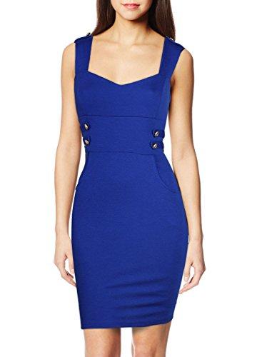 Miusol Women's Business Square Neck Slim Bodycon Midi Dress