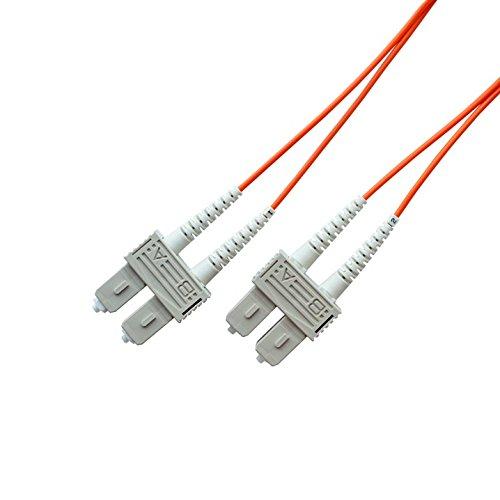OM1 62.5/125 Multimode Duplex Fiber Optic Patch Cable, SC to SC (2 Meter)