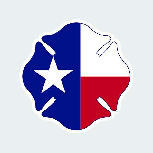 - fagraphix Texas State Shaped Maltese Cross Sticker Decal Self Adhesive Fire Firefighter Dept Fireman 4