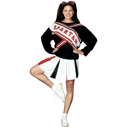 (Fun World Women's Plus Size SNL Spartan Cheerleader Costume, Multi, Plus)