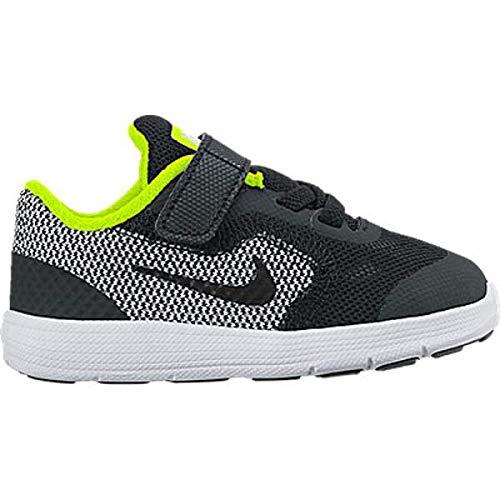 low priced 75f30 3e59d Galleon - NIKE Kids  Revolution 3 (TDV) Running Shoe, Black Black White Volt,  6 M US Toddler