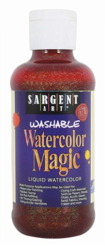 - Sargent Art 22-9014 8-Ounce Glitter Watercolor Magic, Orange