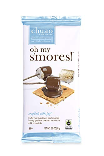 Chocolate Bars - Chuao Chocolatier Chocolate Bars 4pk (2.8 oz bars) - Best-Selling Chocolate Pack - Gourmet Artisan Chocolate - Free of Artificial Flavors (Oh My S'mores)