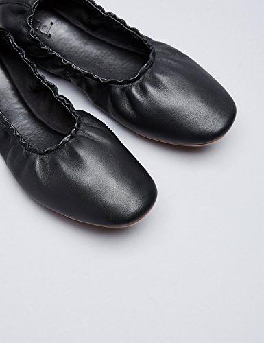 FIND Bailarinas con Elástico Para Mujer Negro (Black)