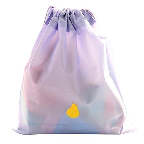 vêtements plastique Accessoires pour bijoux Toruiwa 2 Sac cadeau Sac sacoche à étanche tout de de nbsp;x suspendre Sac à Sac rangement Fourre de Sundries Sac voyage en H de Taille PE Pouch cordon E ménage HCCqP