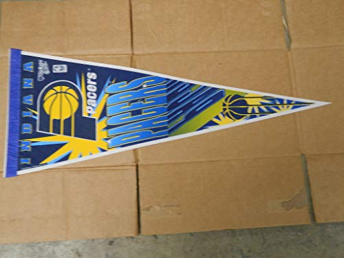 (1990'S INDIANA PACERS BASKETBALL PENNANT NICE CONDITION FULL SIZE)