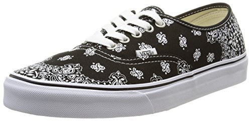 [Vans Bandana Authentic mens skateboarding-shoes VN-00AID9S_10.5 - black/true white] (Gangster Shoes)