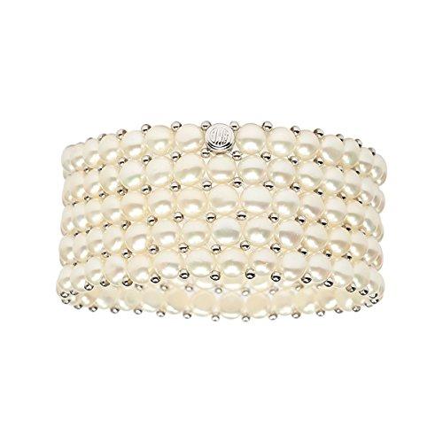 Womens Freshwater Cultured Pearl Bracelet