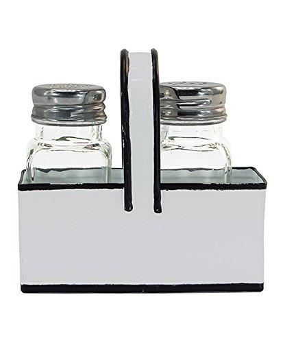 (Black and White Salt & Pepper Shaker Caddy)