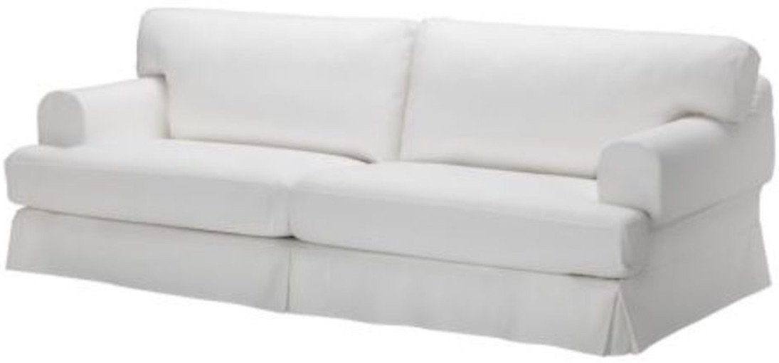 Durabale Dense Cotton Three Seat Hovas Sofa Cover Replacement is Custom Made for IKEA Hovas 3 Seater Slipcover Only (Hovas White)