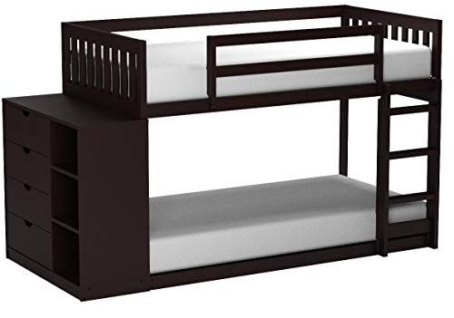Donco Kids 1600-TTBB Mission Chest Bunk Bed, Twin/Twin, Black Brown