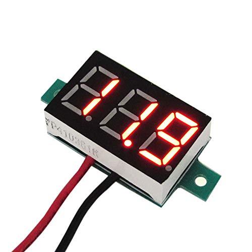 - ROLYPOBI Mechanical Fasteners Xh-b102 DC 5-10V Voltmeter Wire LED Digital Display Voltage DC 2.5-30V