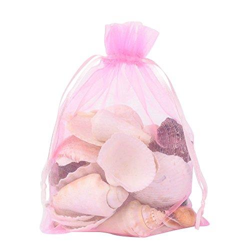 - Pandahall 100 PCS 5x7 inch Pink Organza Drawstring Bags Party Wedding Favor Gift Bags