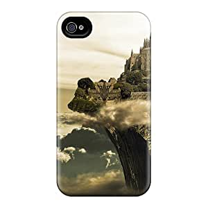 ConnieJCole GnjLdjZ4087RGwQM Case For Iphone 4/4s With Nice Castle In The Clouds Appearance