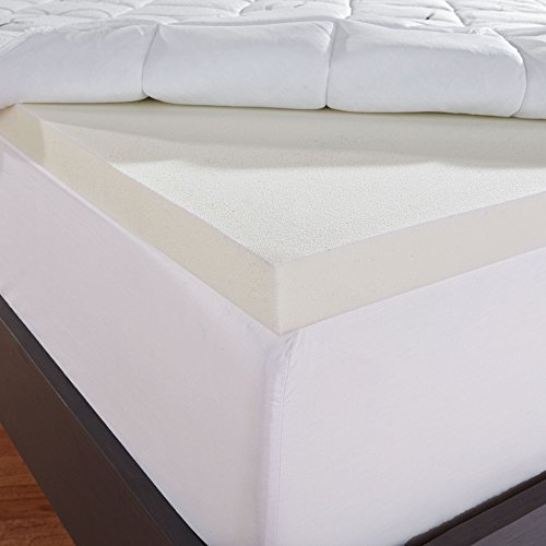 Sleep Innovations Instant Pillow Top Memory Foam And Fiber Hybrid Mattress Topper Queen