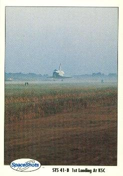 (Space Shuttle trading card (NASA Landing at Kennedy Space Center) 1990 Space Shots Ventures #5)