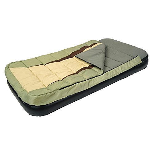 Jilong 2-in-1 Air Bed (Navy) with Multi-color Sleeping Bag, Twin Size