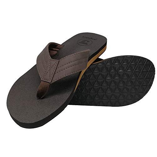 163ba342f7c78 Canvas Men s Flip Flops Cushion Yoga Foam Thong Sandals Non Slip