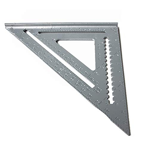 Utoolmart 12inch Speed Square Layout Tool 300mm Professional Aluminum Alloy Rafter Angle Square Triangle Ruler for Woodworking Grey 1pcs