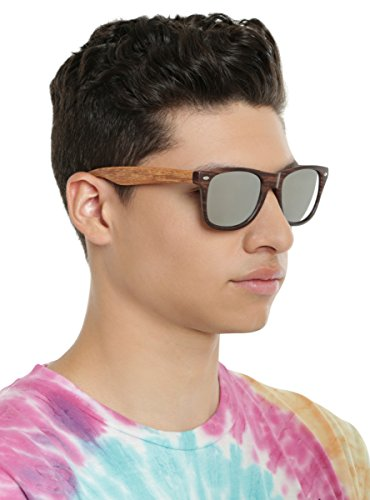 Brown Wood Mirror Lens Retro - Topic Hot Sunglasses