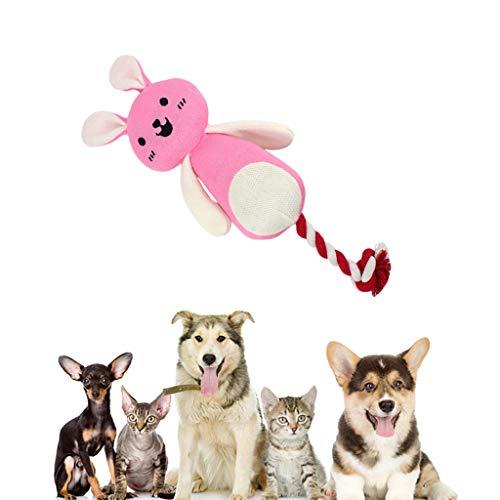 ペットのおもちゃ、漫画の動物のおもちゃぬいぐるみ人形のおもちゃインタラクティブなおもちゃかわいいペット犬吠えるおもちゃ猫咀嚼ぬいぐるみボディリラクゼーションおもちゃ運動犬ボディ噛むおもちゃサウンドおもちゃストレスを軽減する (ピンク)の商品画像