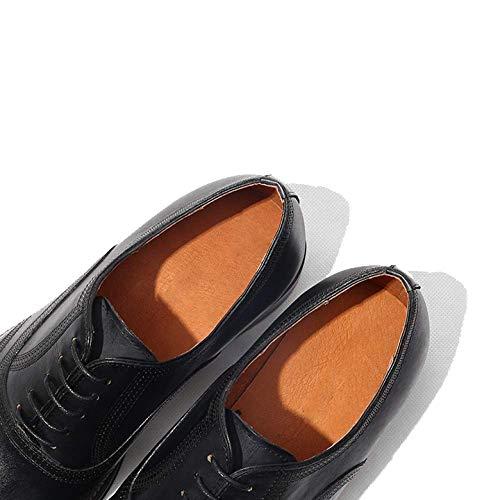 Scarpe Stringate NIUMT da Pelle Scarpe Banchetto Reddishbrown in degli Uomo Affari Ventilazione Broch Assorbimento Urti 0wr80qR