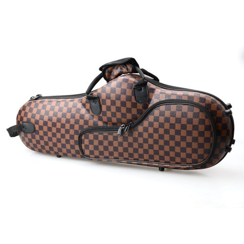 Glarry Cloth Alto Saxophone Case Box Gig Bag Coffee with Leather Surface
