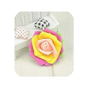 10PCS/Lot 7cm Mini PE Foam Rose Flower Head Artificial Rose Flowers Ball Scrapbookin,Yellow Champange 42