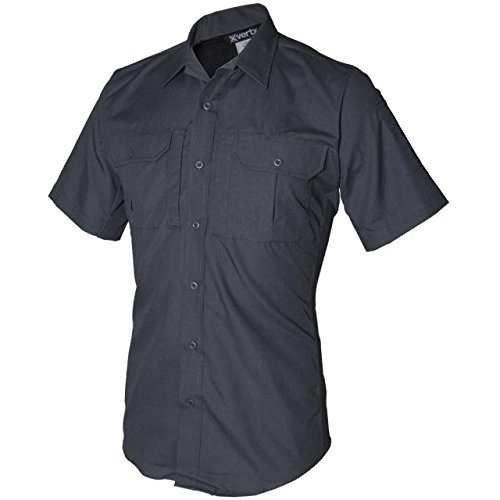 Vertx Men's Phantom LT Short Sleeve Shirt, Smoke Grey, Large