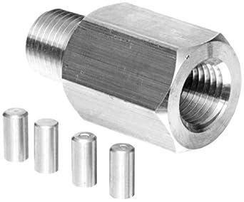 "NOSHOK 5025 316 Stainless Steel Piston Type Pressure Snubber, 1/4"" NPT Male, 15000 psi Pressure Range"