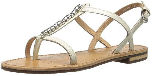 Geox - Sandalias de vestir para mujer Off White