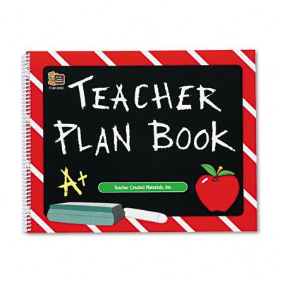 TEACHER CREATED RESOURCES Plan Book, Spiral-Bound, 12 x 9-1/2, 96 Pgs (Case of 12)