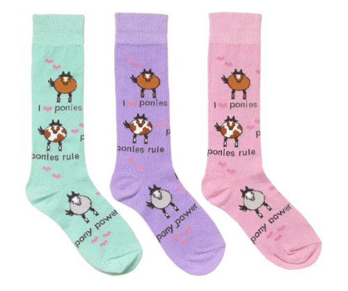 Ovation Childs Pony Power Socks - Size:Childs 7-9 Color:Lavender