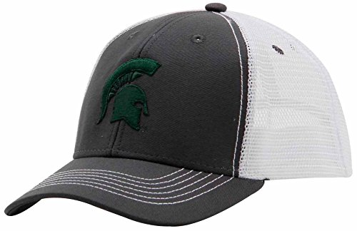 Ouray Sportswear NCAA Michigan State Spartans Adult Unisex Youth Sideline Mesh Cap, Adjustable, Dark - Youth Sideline Cap