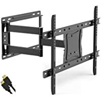 Full Motion TV Wall Mount for 19-84 TVs with Tilt and Swivel Articulating Arm and HDMI Cable, UL Certified