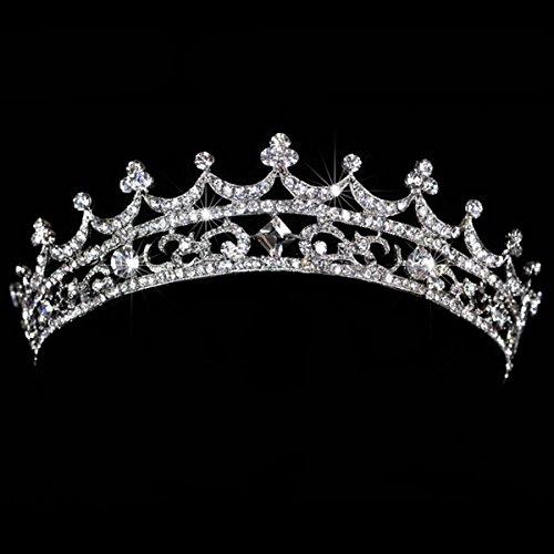 AshopZ Women's Rhinestone Wedding Bridal Party Birthday Crown Tiara Korea Palace