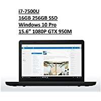 2017 Lenovo ThinkPad E570 15.6 Business Laptop: Full HD (1920x1080) IPS Anti-Glare, Intel Core i7-7500U, 256GB SSD, 16GB DDR4, NVIDIA GTX 950, FingerPrint, DVD+RW, Windows 10 Pro